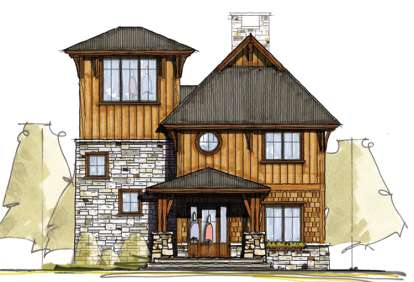 3 Bed, 3 Bath, 2232 Square Foot House Plan - #8504-00032