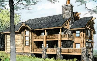 4 Bed, 3 Bath, 2946 Square Foot House Plan - #8504-00033