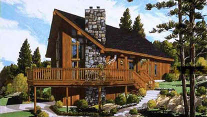 3 Bed, 2 Bath, 1468 Square Foot House Plan #033-00008