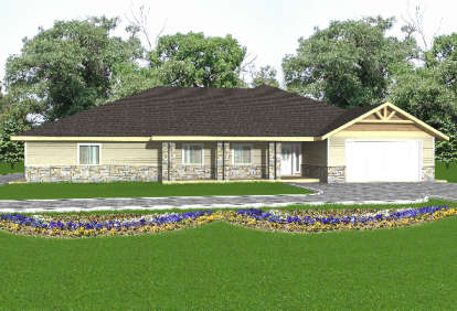 3 Bed, 2 Bath, 3303 Square Foot House Plan - #039-00215