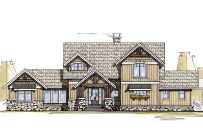 5 Bed, 5 Bath, 3480 Square Foot House Plan - #8504-00047