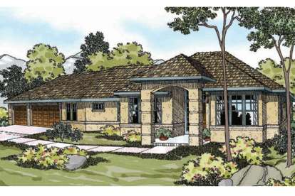 3 Bed, 2 Bath, 2149 Square Foot House Plan - #035-00600