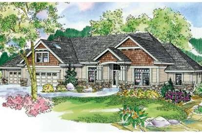 3 Bed, 2 Bath, 3112 Square Foot House Plan - #035-00602