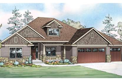 4 Bed, 2 Bath, 2412 Square Foot House Plan #035-00607