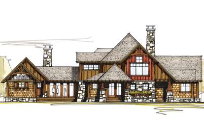 4 Bed, 4 Bath, 4209 Square Foot House Plan - #8504-00064