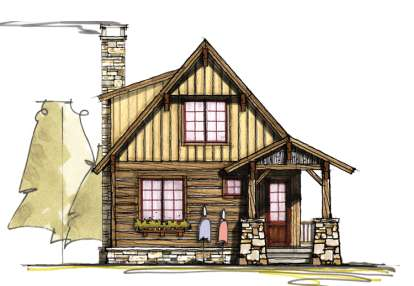 2 Bed, 2 Bath, 1283 Square Foot House Plan - #8504-00072