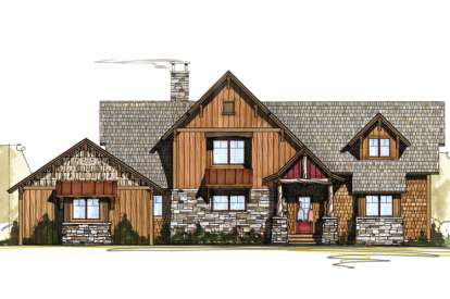 3 Bed, 3 Bath, 2223 Square Foot House Plan - #8504-00074
