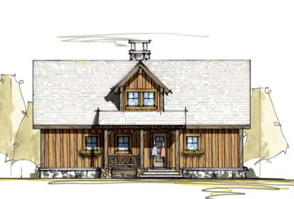 2 Bed, 2 Bath, 1176 Square Foot House Plan - #8504-00082