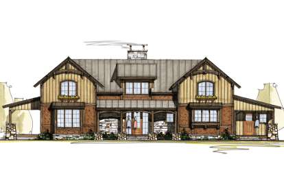 5 Bed, 4 Bath, 3937 Square Foot House Plan - #8504-00088