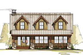 Cabin House Plan #8504-00093 Elevation Photo