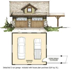 Garage for House Plan #8504-00093