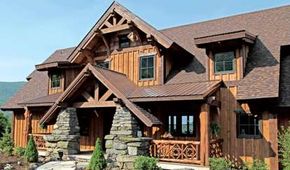 4 Bed, 4 Bath, 5046 Square Foot House Plan - #8504-00099