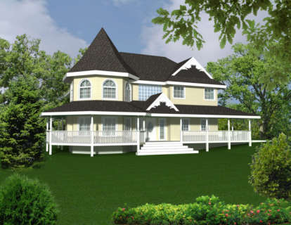 3 Bed, 2 Bath, 3344 Square Foot House Plan - #039-00223