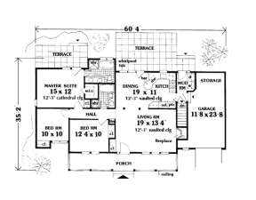 Main Floor for House Plan #033-00009