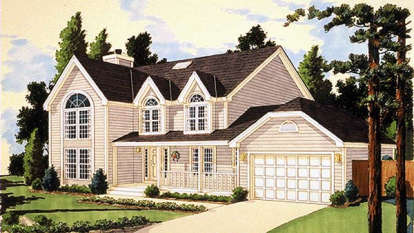 4 Bed, 2 Bath, 2146 Square Foot House Plan - #033-00010