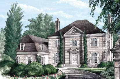 5 Bed, 5 Bath, 5372 Square Foot House Plan - #7922-00182