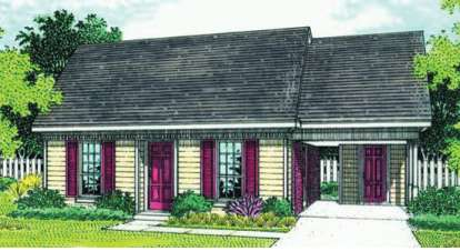 3 Bed, 1 Bath, 1168 Square Foot House Plan - #048-00025