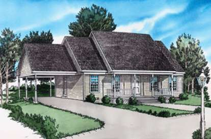 2 Bed, 1 Bath, 999 Square Foot House Plan - #9035-00003