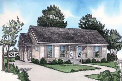 2 Bed, 1 Bath, 1025 Square Foot House Plan - #9035-00009