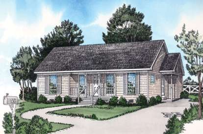 2 Bed, 2 Bath, 1109 Square Foot House Plan - #9035-00021