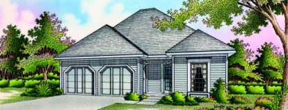 2 Bed, 2 Bath, 1150 Square Foot House Plan - #048-00028