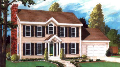 4 Bed, 3 Bath, 2151 Square Foot House Plan - #033-00011