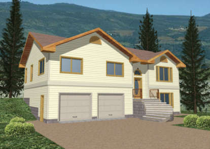 3 Bed, 3 Bath, 2070 Square Foot House Plan - #039-00241
