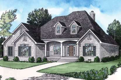 4 Bed, 3 Bath, 2428 Square Foot House Plan - #9035-00087