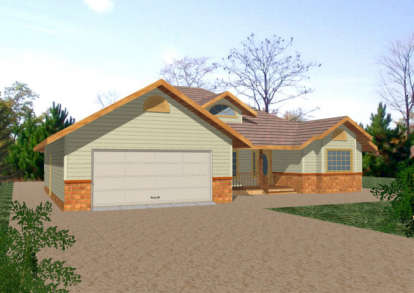 3 Bed, 2 Bath, 1605 Square Foot House Plan - #039-00244