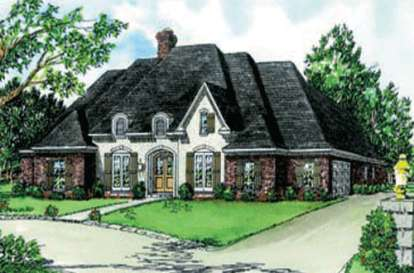 4 Bed, 3 Bath, 2735 Square Foot House Plan - #9035-00105