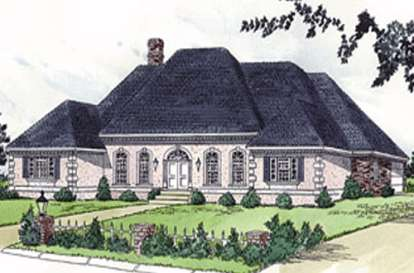 4 Bed, 3 Bath, 3128 Square Foot House Plan - #9035-00121