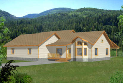 3 Bed, 2 Bath, 2056 Square Foot House Plan - #039-00246
