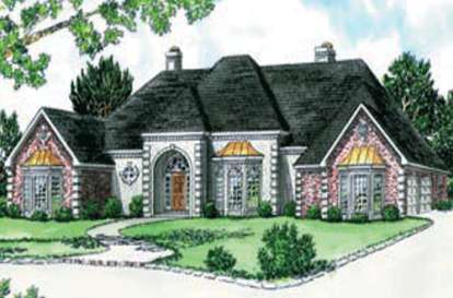 4 Bed, 4 Bath, 3361 Square Foot House Plan - #9035-00127