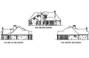 European House Plan #9035-00127 Elevation Photo