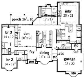 Floorplan 1 for House Plan #9035-00127