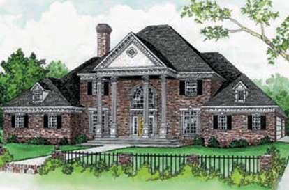 4 Bed, 3 Bath, 3813 Square Foot House Plan - #9035-00132