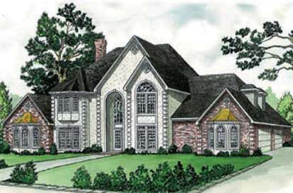 4 Bed, 4 Bath, 4380 Square Foot House Plan - #9035-00135