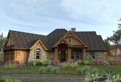 3 Bed, 2 Bath, 2091 Square Foot House Plan #9401-00001