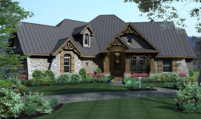 3 Bed, 3 Bath, 2847 Square Foot House Plan #9401-00002