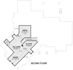 Second Floor for House Plan #9401-00002