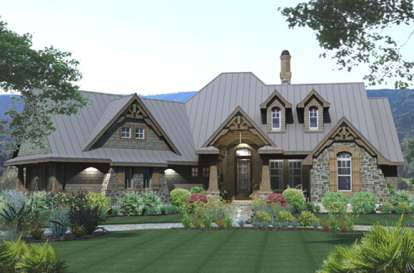 3 Bed, 2 Bath, 2106 Square Foot House Plan #9401-00005