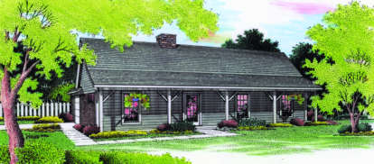 3 Bed, 2 Bath, 1191 Square Foot House Plan #048-00029