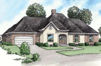 4 Bed, 2 Bath, 1862 Square Foot House Plan - #9035-00204