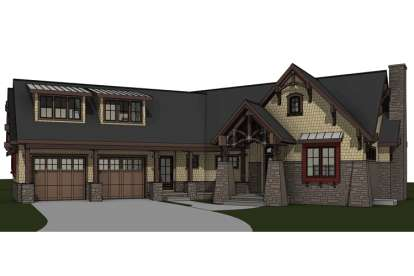 3 Bed, 3 Bath, 2117 Square Foot House Plan #7806-00012