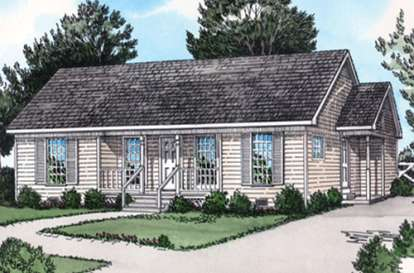 2 Bed, 2 Bath, 1109 Square Foot House Plan - #9035-00231