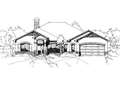 3 Bed, 2 Bath, 2440 Square Foot House Plan - #028-00007