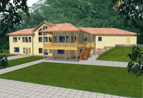 Traditional House Plan #039-00257 Elevation Photo