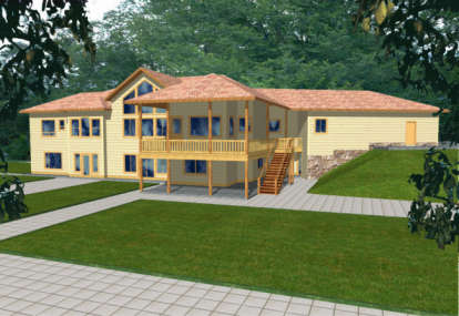 5 Bed, 5 Bath, 5418 Square Foot House Plan - #039-00257
