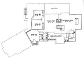 Basement Floor for House Plan #039-00257