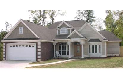 4 Bed, 2 Bath, 1892 Square Foot House Plan #1070-00020